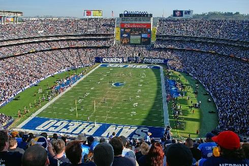 Qualcomm Stadium, San Diego Chargers football stadium ... Qualcomm Stadium Chargers