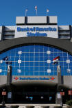 Exterior of Bank of America Stadium
