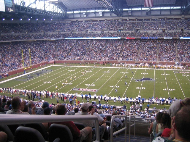 Ford Field Detroit Lions Football Stadium Stadiums Of