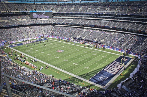 View from the upper deck at MetLife Stadium