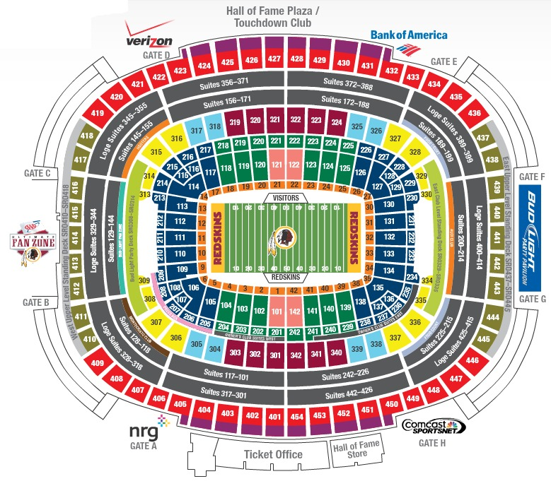 News And Entertainment Fedex Field Seating Jan 04 2013