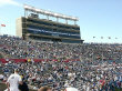 View of the grandstand at Foxboro Stadium.