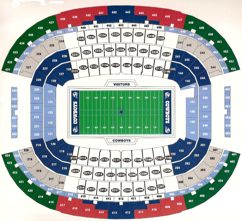 NFL Stadium Seating Charts, Stadiums of Pro Football on