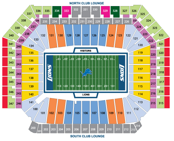 Lions Stadium Seating Chart Submited Images