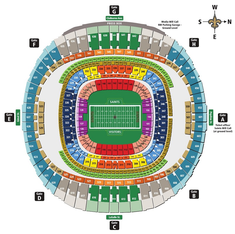 Nfl stadium seating charts stadiums of pro football for Seating chart mercedes benz stadium
