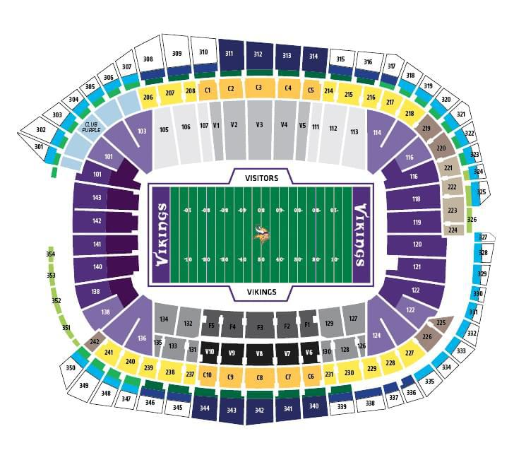 Us Bank Stadium Seating Question Looking To Buy Tickets