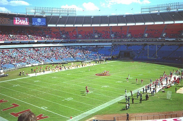 Atlanta Fulton County Stadium, former home of the Atlanta Falcons