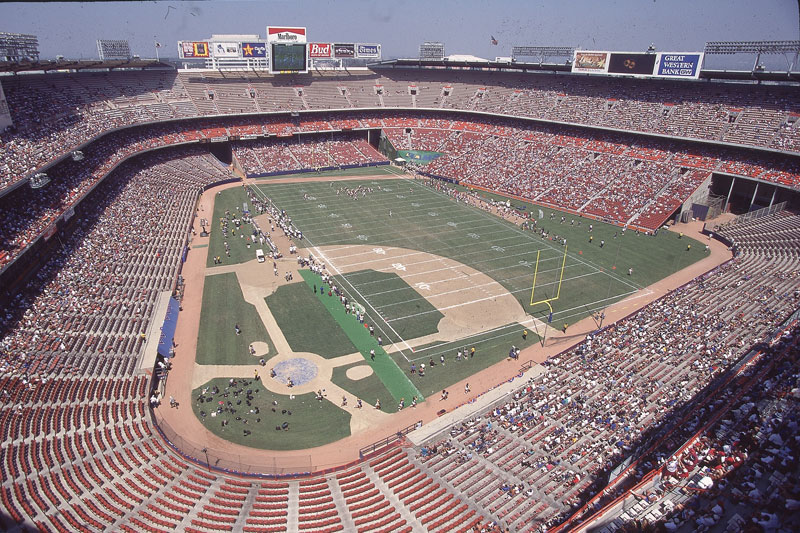Anaheim Stadium, former home of the Los Angeles Rams