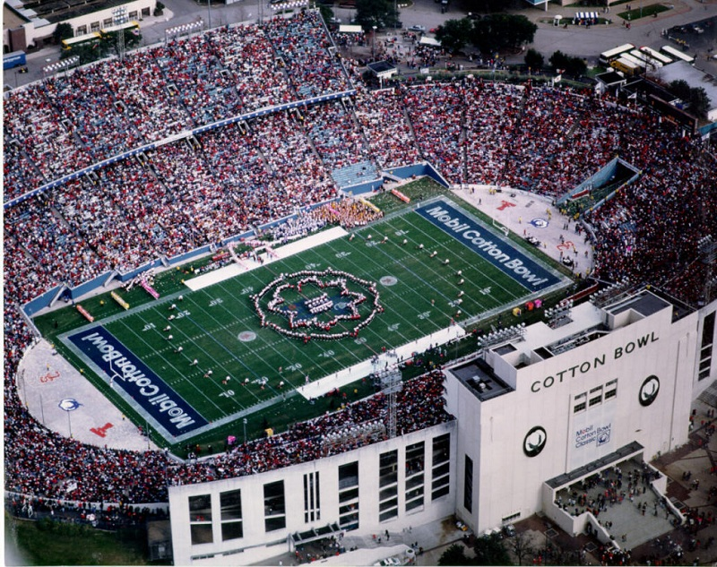 Aerial of the Cotton Bowl, former home of the Dallas Cowboys