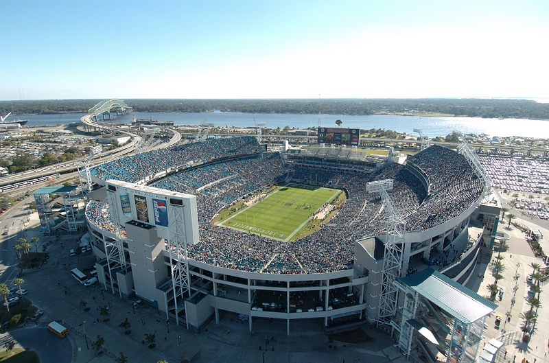 Aerial of EverBank Field, home of the Jacksonville Jaguars