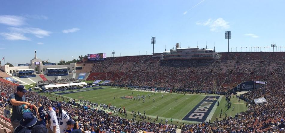 Los Angeles Rams at the Los Angeles Coliseum