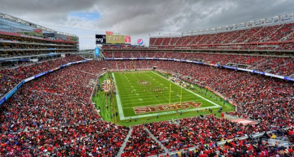 View towards the playing field at Levi's Stadium, home of the San Francisco 49ers - Picture Mark Whitt