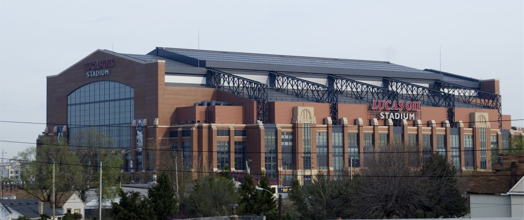 Exterior of Lucas Oil Stadium