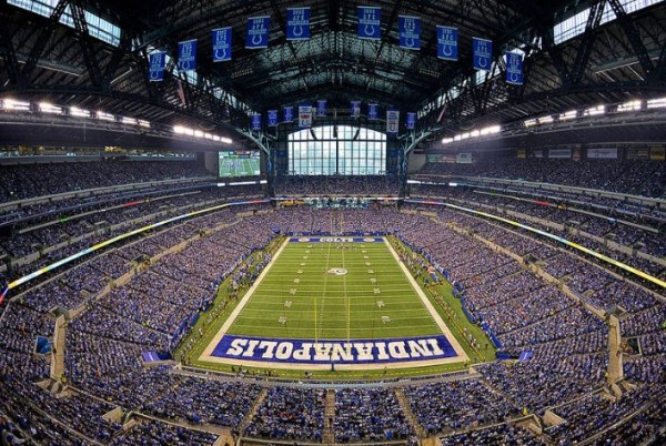 View from the end zone at Lucas Oil Stadium - Picture: Mark Whitt