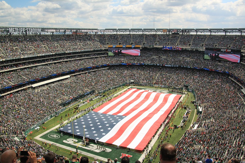 View from the upper deck at MetLife Stadium, home of the New York Jets