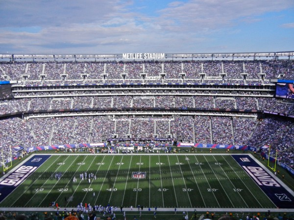 50 Yard Line at MetLife Stadium, home of the New York Giants