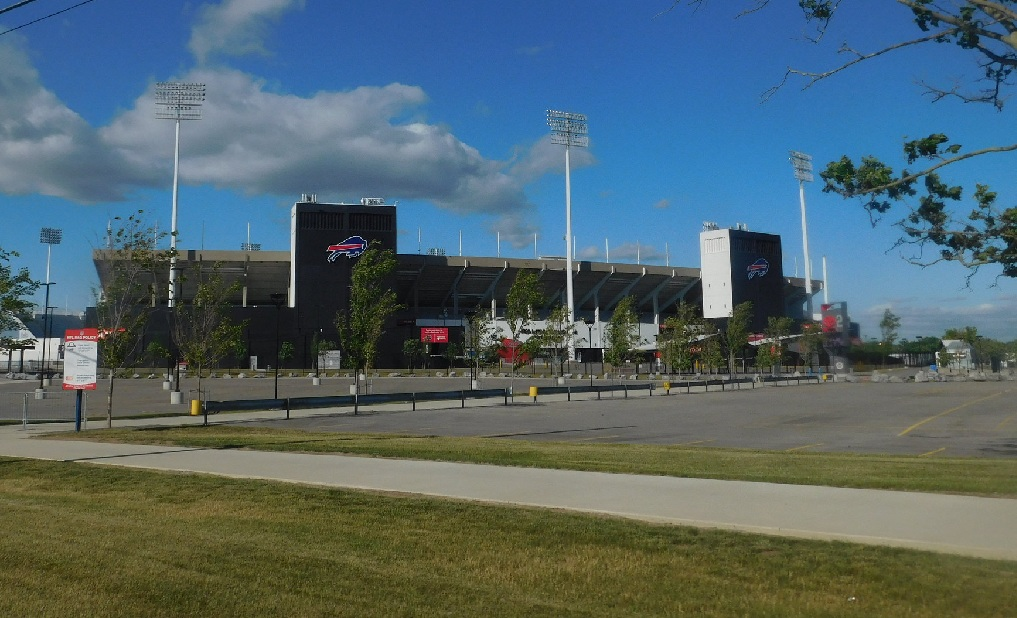 Outside Ralph Wilson Stadium, home of the Buffalo Bills