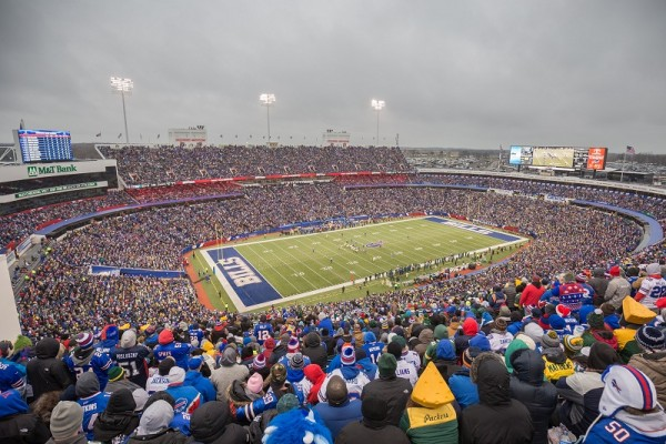 View from the upper deck at Ralph Wilson Stadium, home of the Buffalo Bills