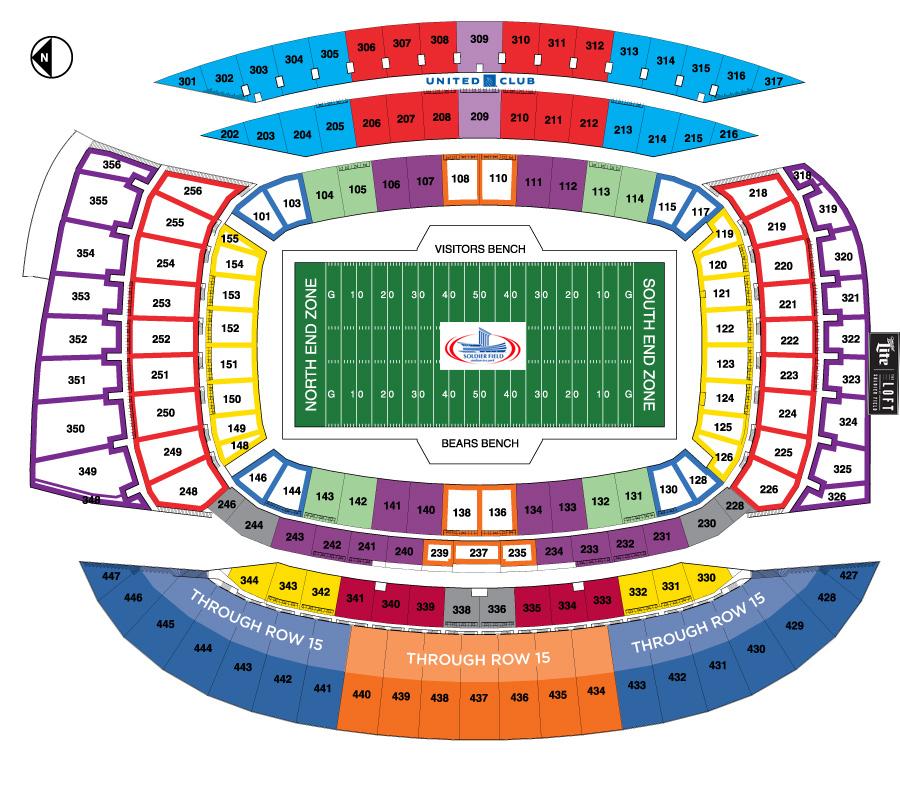 Soldier Field Chicago Bears Football Stadium Stadiums
