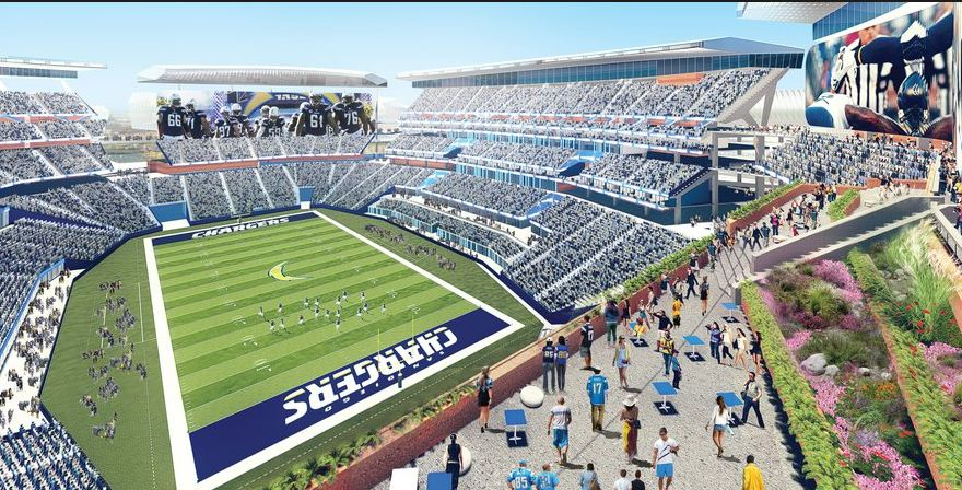 Rendering of a proposed Chargers stadium