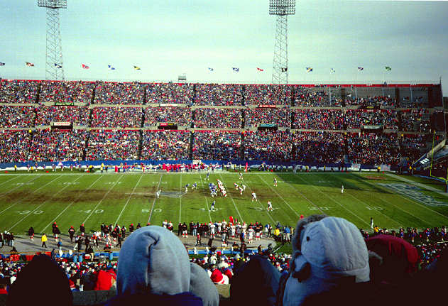 Foxboro Stadium, former home of the New England Patriots