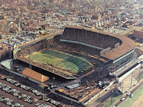 Aerial of Kansas City Municipal Stadium, former home of the Kansas City Chiefs