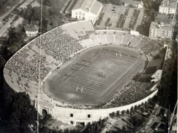 Aerial of Kezar Stadium, former home of the San Francisco 49ers