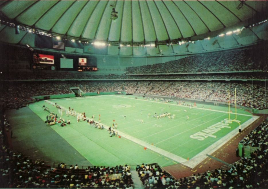 View of the playing field at the Kingdome, former home of the Seattle Seahawks
