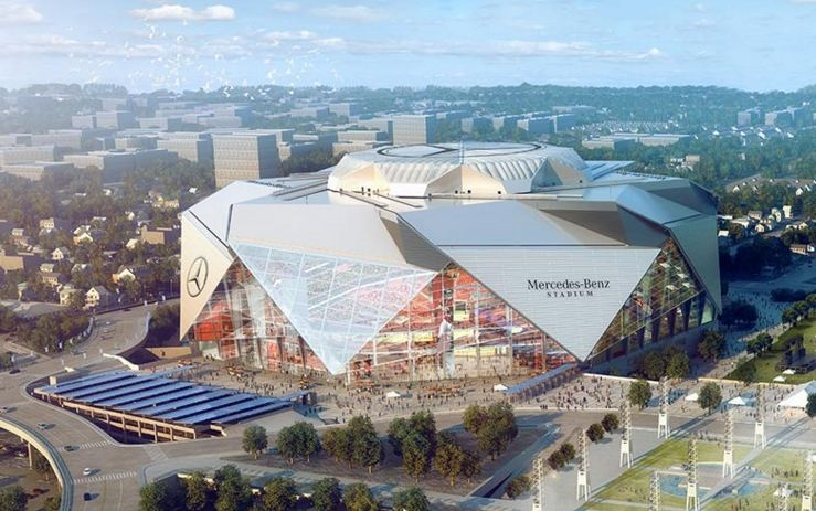 Mercedes benz stadium information renderings and more for Hotels near mercedes benz stadium