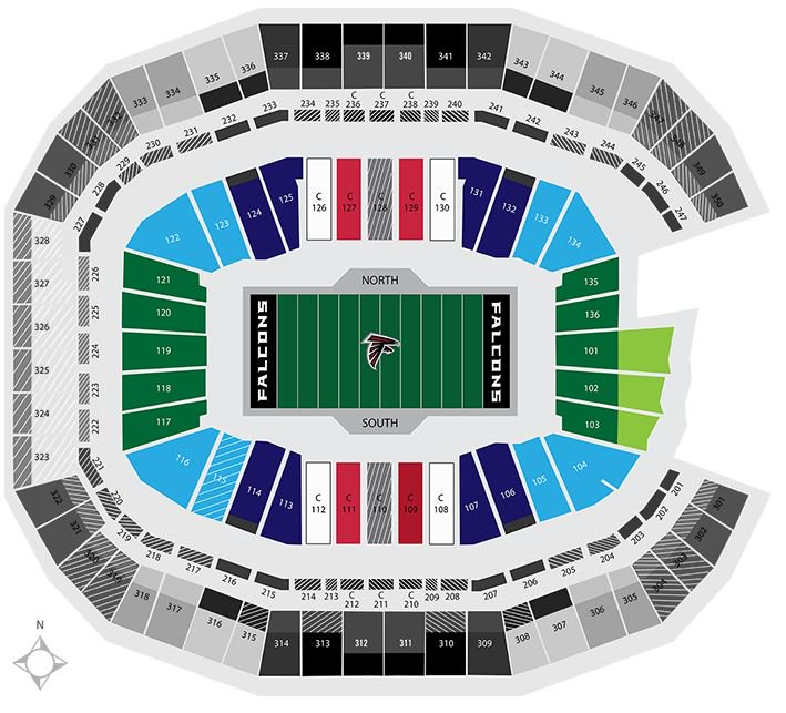 Mercedes Jacksonville Fl >> NFL Stadium Seating Charts, Stadiums of Pro Football