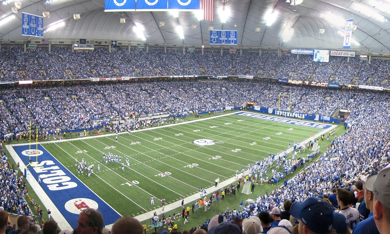 View from the upper deck at the RCA Dome