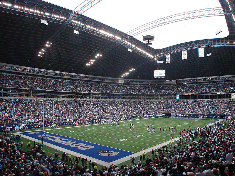 View of Texas Stadium, former home of the Dallas Cowboys