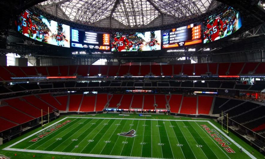 Mercedes benz stadium roof audio problems to be fixed by for Will call mercedes benz stadium