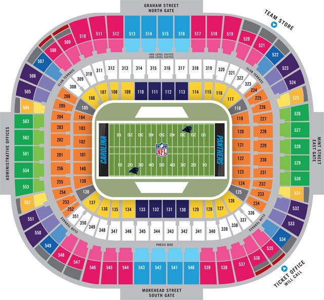 Nfl Stadium Seating Charts Stadiums Of Pro Football