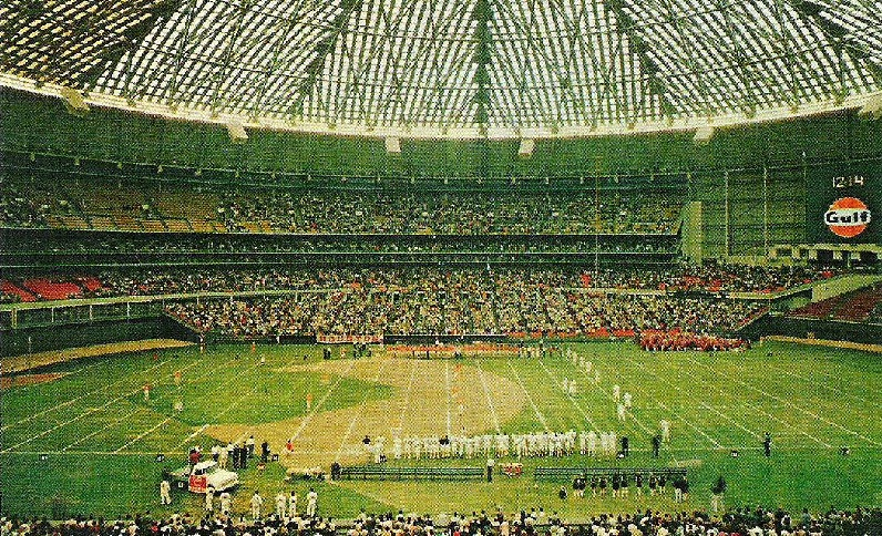 View of the field at the Astrodome, former home of the Houston Oilers