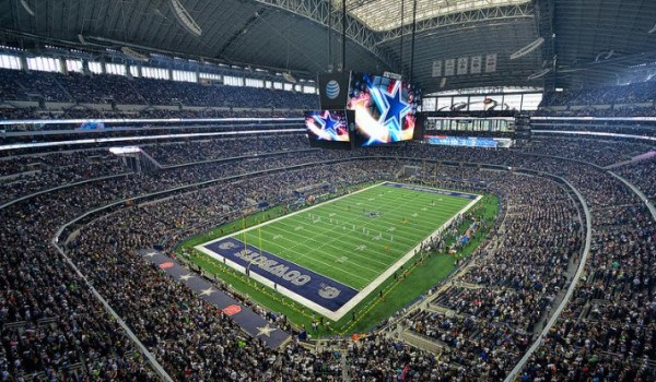 View of the playing field at AT&T Stadium, home of the Dallas Cowboys - Picture: Mark Whitt