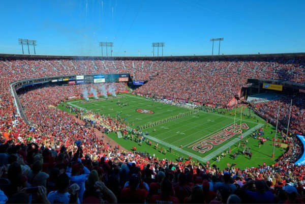 View from the upper deck at Candlestick Park, home of the San Francisco 49ers - Picture: Mark Whitt