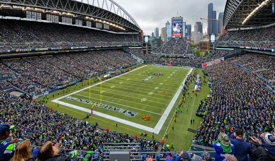 View of the playing field at CenturyLink Field, home of the Seattle Seahawks - Picture: Mark Whitt