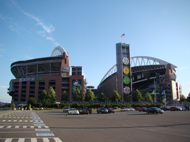 Outside Lumen Field, home of the Seattle Seahawks