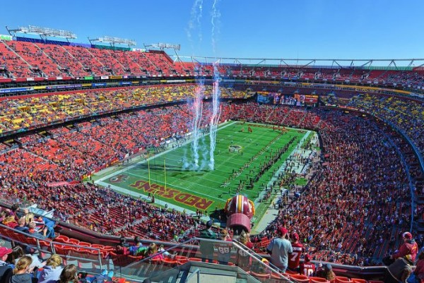 View of the playing field at FedEx Field, home of the Washington Football Team - Picture: Mark Whitt