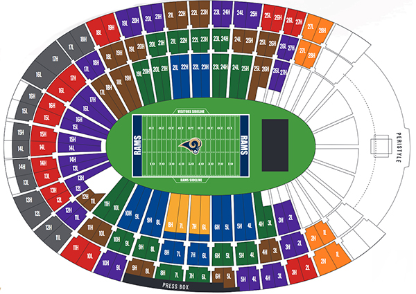 Nissan Of New Orleans >> NFL Stadium Seating Charts, Stadiums of Pro Football