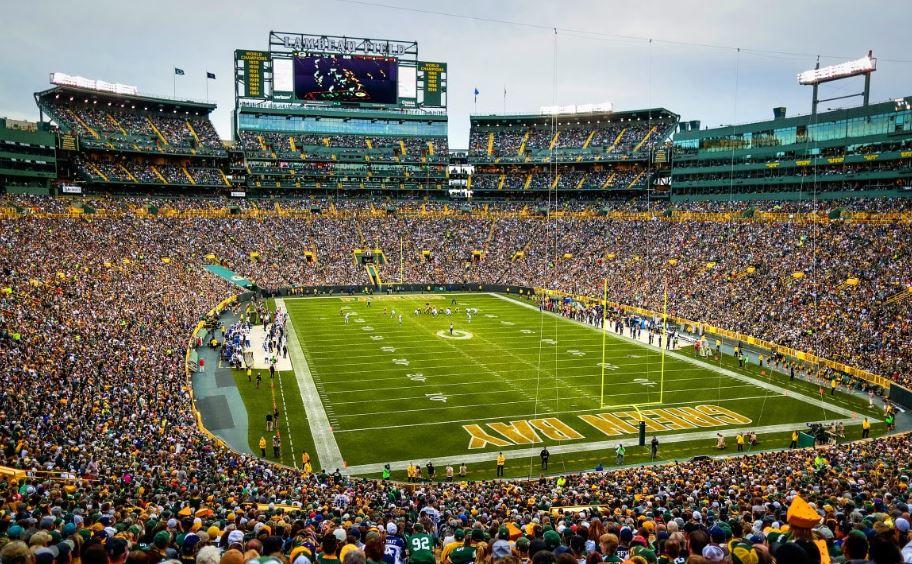Lambeau Field, home of the Green Bay Packers
