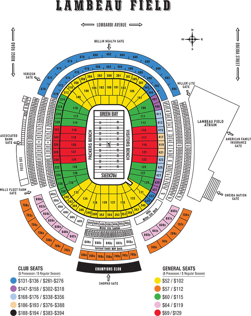 Mercedes Jacksonville Fl >> NFL Stadium Seating Charts, Stadiums of Pro Football