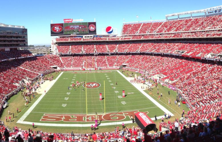 View towards the playing field at Levi's Stadium, home of the San Francisco 49ers
