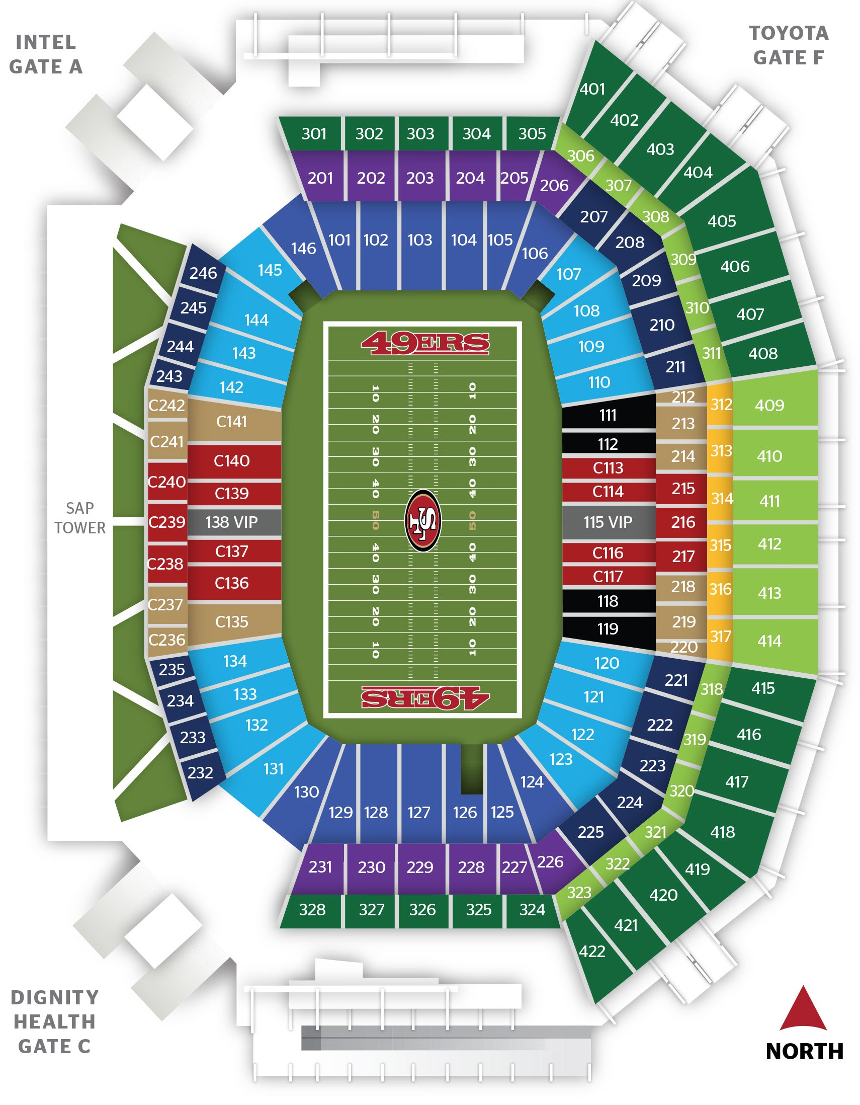 Levis Stadium Capacity >> Levi S Stadium San Francisco 49ers Football Stadium Stadiums Of
