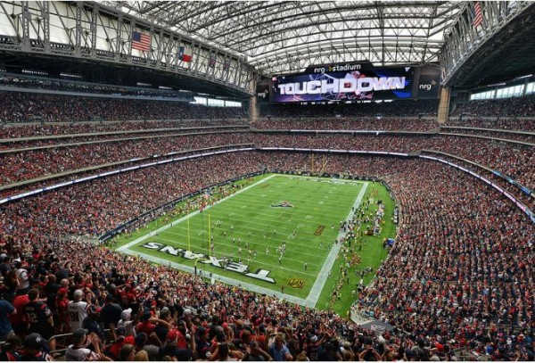 View from the upper deck at NRG Stadium - Picture: Mark Whitt