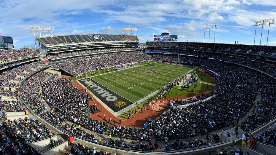 View of the Oakland Coliseum, home of the Oakland Raiders - Picture: Mark Whitt