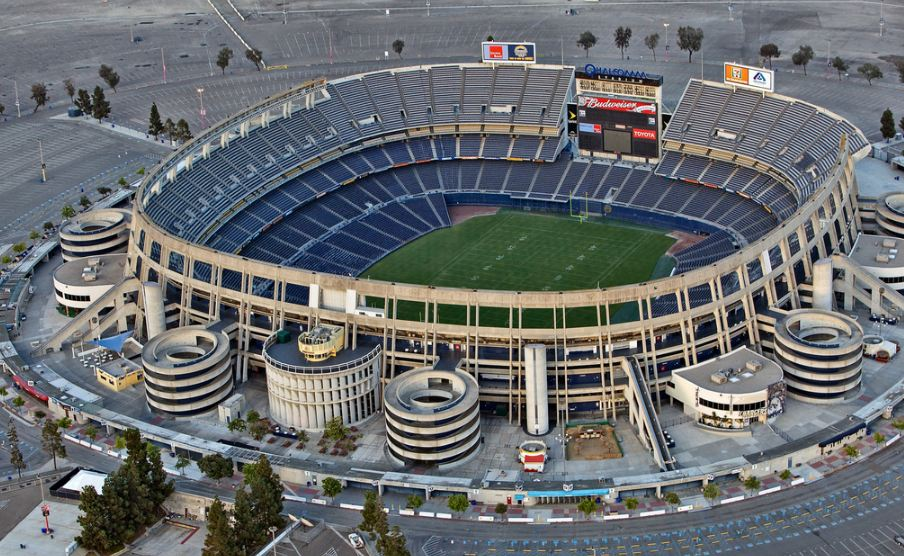 Aerial of Qualcomm Stadium