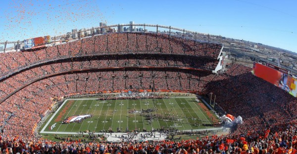 View from the upper deck at Sports Authority Field, home of the Denver Broncos