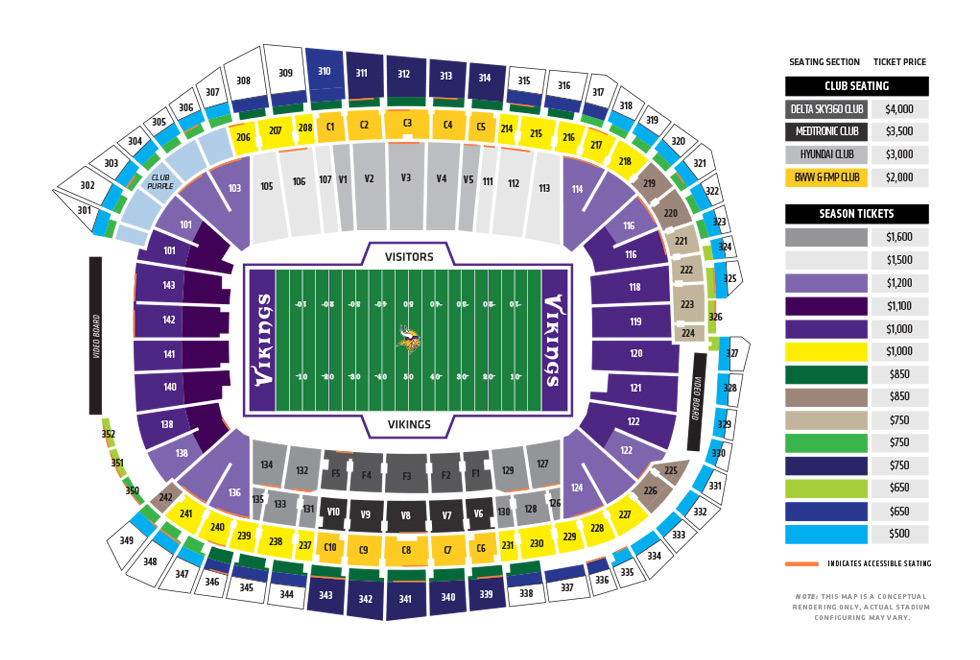 Map Of Us Bank Arena US Bank Stadium, Minnesota Vikings football stadium   Stadiums of